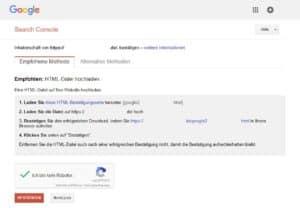 Google Webmaster-Tools - Inhaberschaft