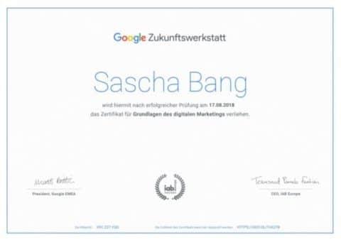 Google-Zertifikat digitales Marketing