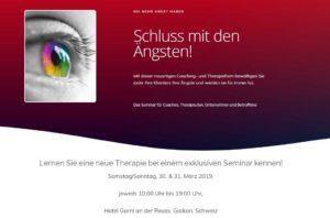Angst-Seminar.ch - Neue Landing Page für eine Seminarveranstaltung