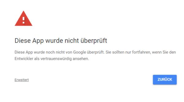 Google Site Kit mit Analytics verbinden Warnung