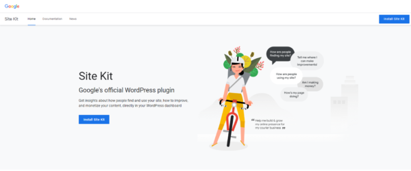 Startseite des Google-Sitekit-Projekts