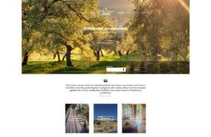 Startseite von fincavegana.com - Ferien in Andalusien