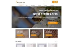 """Startseite für den Online-Shop """"Imkereibedarf Lemke"""""""